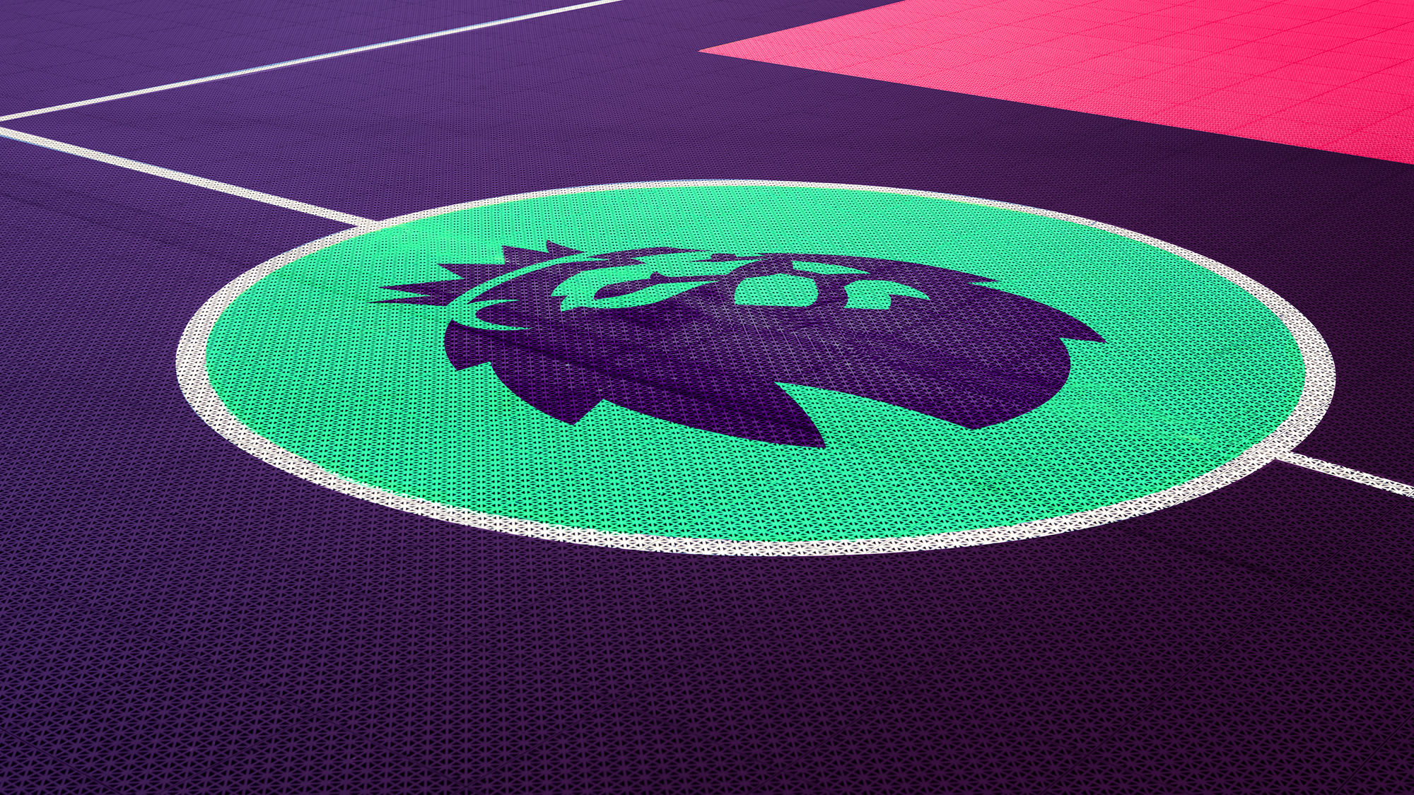 premier league logo on the floor