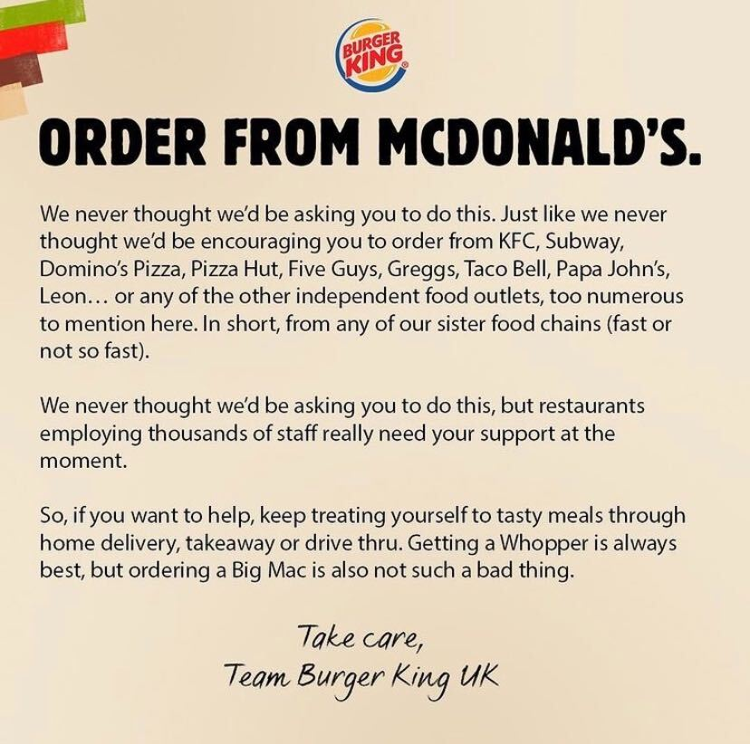 Burger King Order from McDonald's