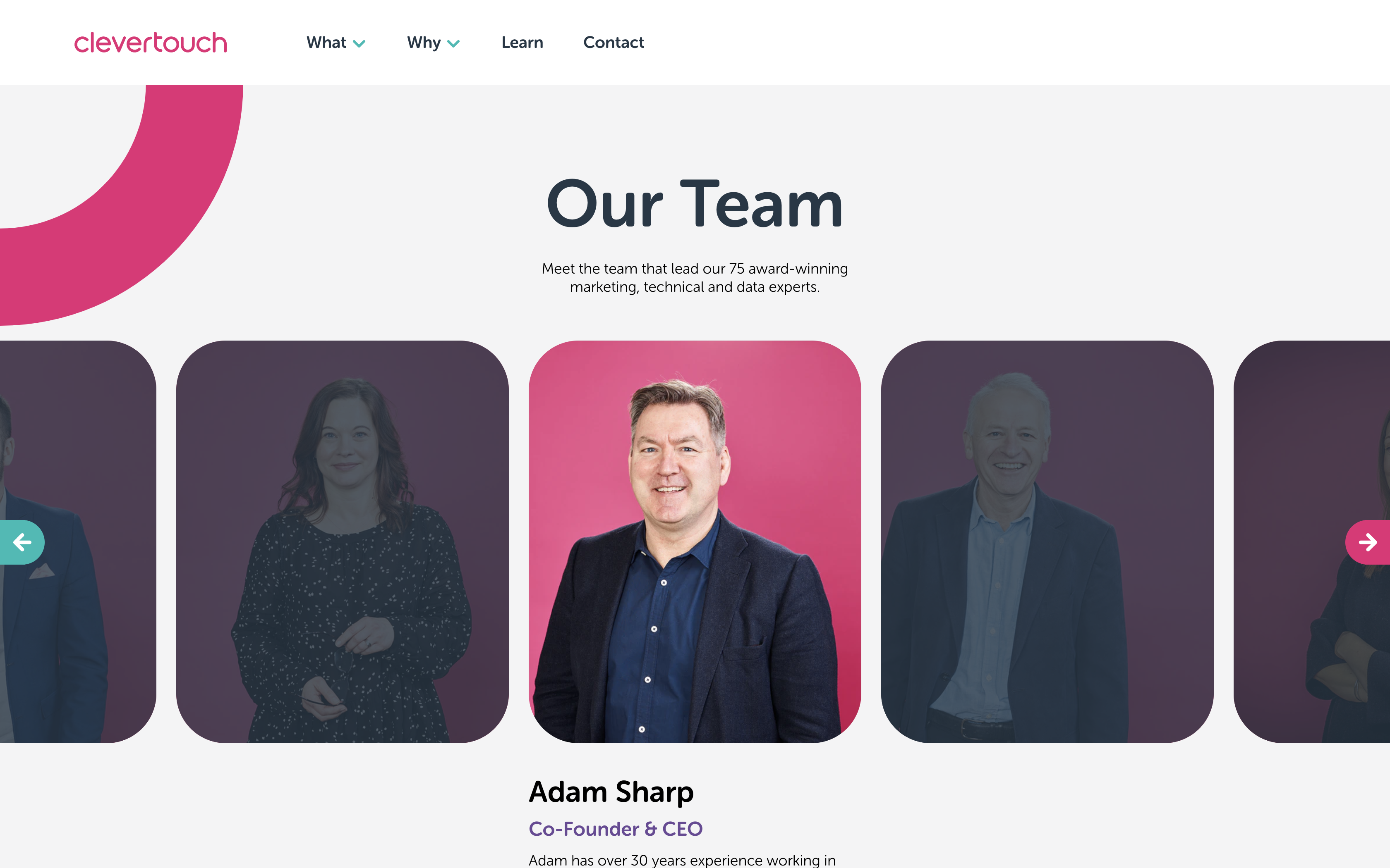 clevertouch team page
